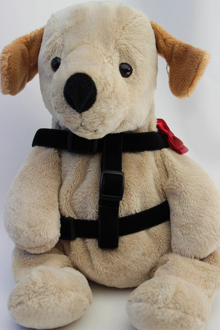 Bowtie Red Step-In Harness - by Diva-Dog.com  - front view