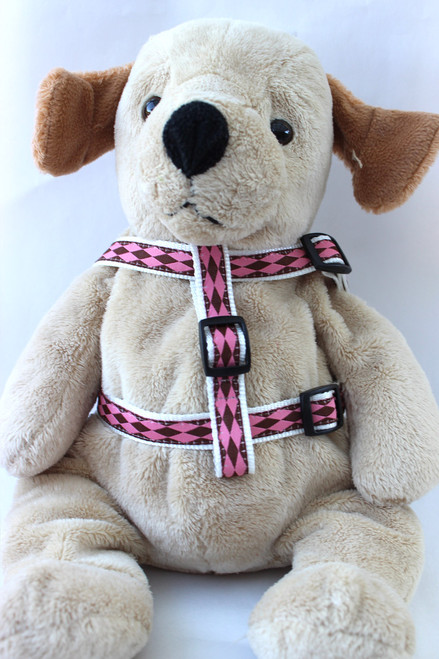 Harlequin Step-In Harness - by Diva-Dog.com  - Front View