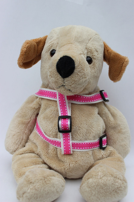 Preppy in Pink Step-In Harness - by Diva-Dog.com  - Front View