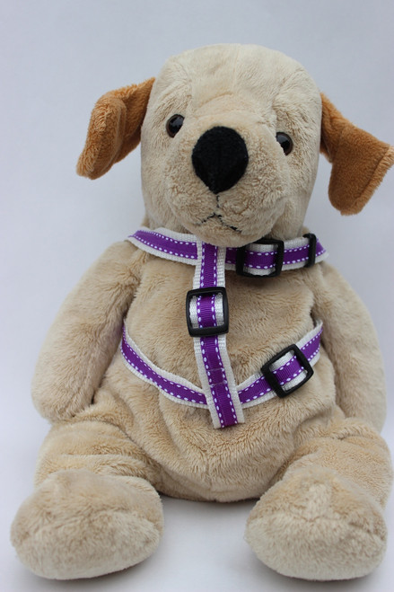Preppy in Purple step in dog Harness - by Diva-Dog.com  - front view
