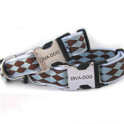 Harlequin blue clearance dog collar