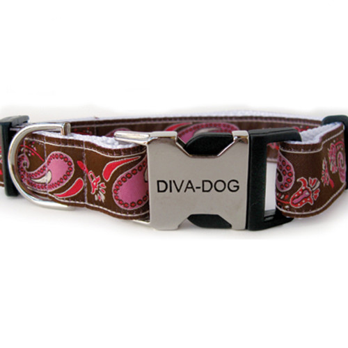 Boho pink clearance dog collar