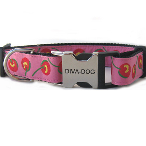 Cherries clearance dog collar