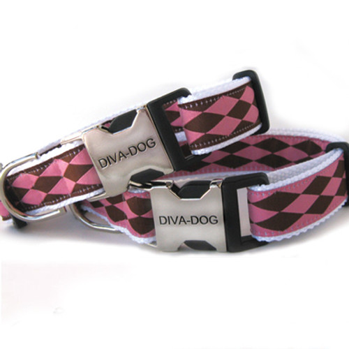 Harlequin pink clearance collar