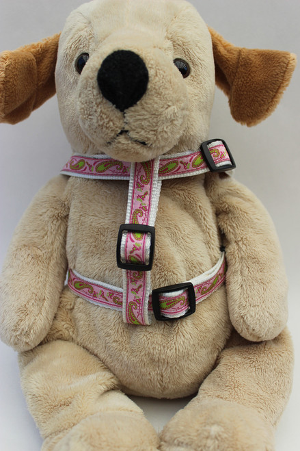Boho Paisley Step-In Harness - by Diva-Dog.com  front view