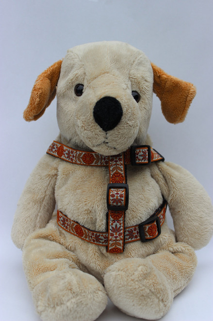 Venice Dog Harness - by Diva-Dog.com  in Ivory - Front View