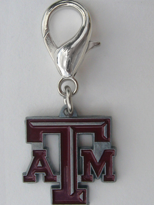 Texas A & M Aggies dog collar Charm - by Diva-Dog.com