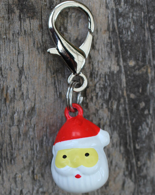 Jingle Santa dog collar Charm - by Diva-Dog.com