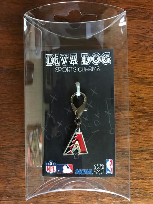 Arizona Diamondbacks Logo dog collar charm - by Diva-Dog.com