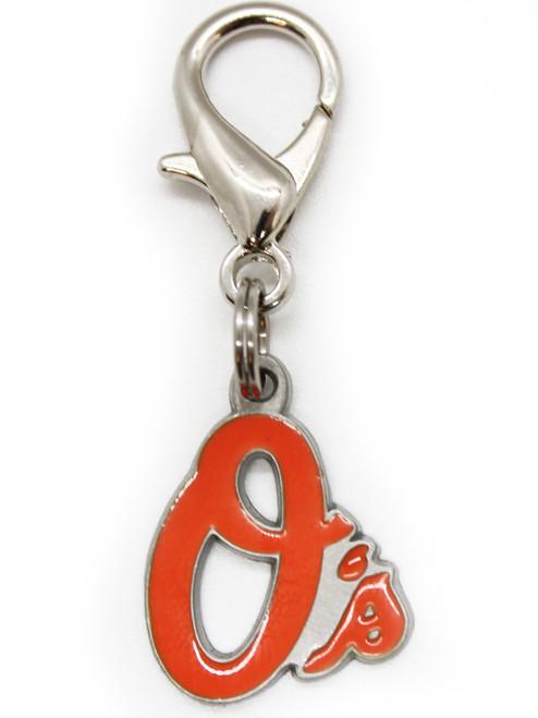 Baltimore Orioles logo collar Charm - by Diva-Dog.com