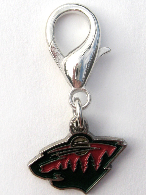 Minnesota Wild Collar Charm - by Diva-Dog.com