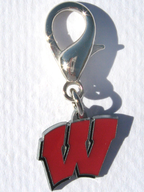University of Wisconsin Badgers dog collar Charm - by Diva-Dog.com