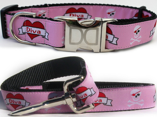 Valentine Collar and Leash Set - by Diva-Dog.com
