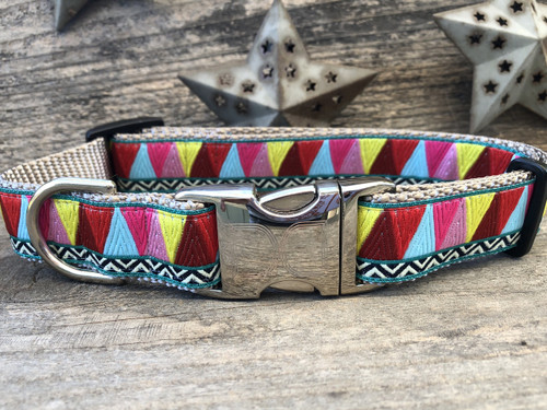 Santa Fe dog collar by www.diva-dog.com