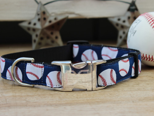 Baseball dog collar - by Diva-Dog.com