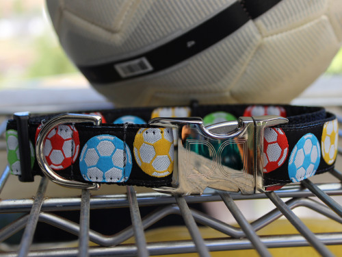 Soccer ball dog Collar - by Diva-Dog.com