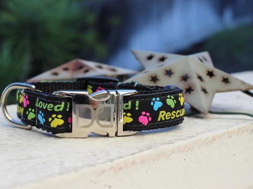 Rescue Me dog Collar - by Diva-Dog.com