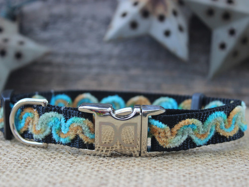 Waves Beaches dog collar - by Diva-Dog.com