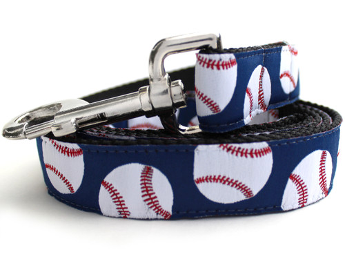 Baseball dog Leash - by Diva-Dog.com