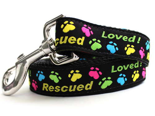 Rescue Me dog Leash - by Diva-Dog.com