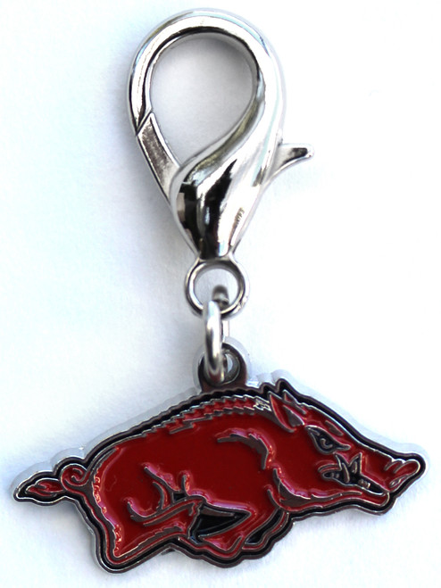 University of Arkansas Razorbacks dog collar Charm - by Diva-Dog.com