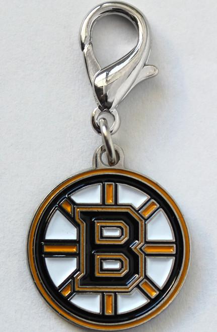 Boston Bruins logo collar Charm - by Diva-Dog.com