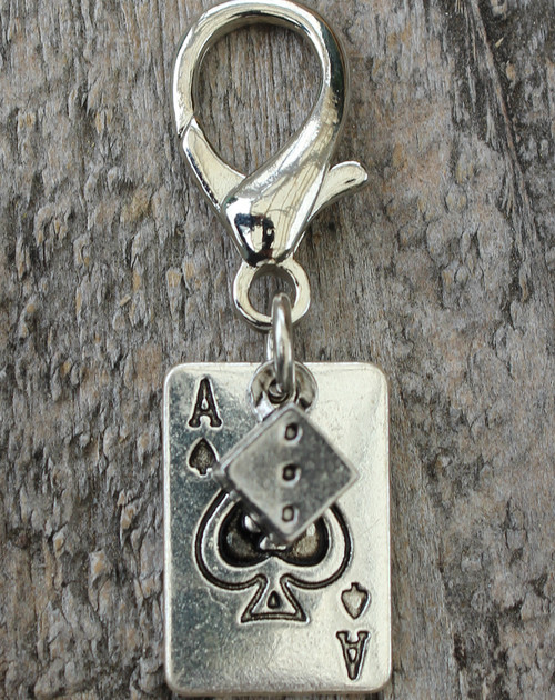 Aces High Dog Collar Charm - by Diva-Dog.com