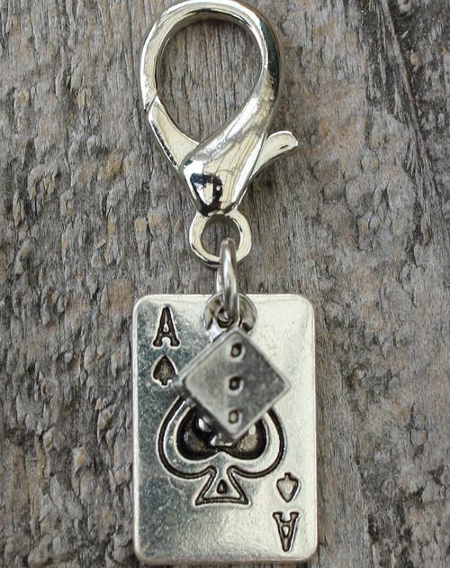 Aces High Dog Collar Charm - by Diva-Dog.com