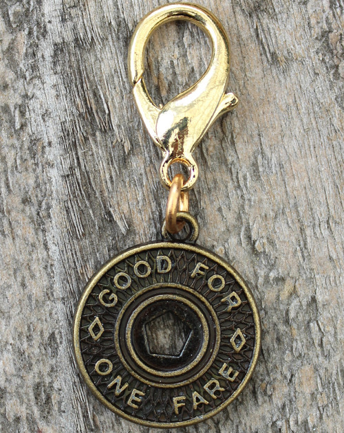 New York Subway Token Collar Charm - by Diva-Dog.com