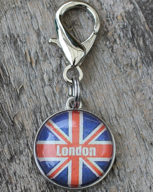 London Bubble Collar Charm - by Diva-Dog.com