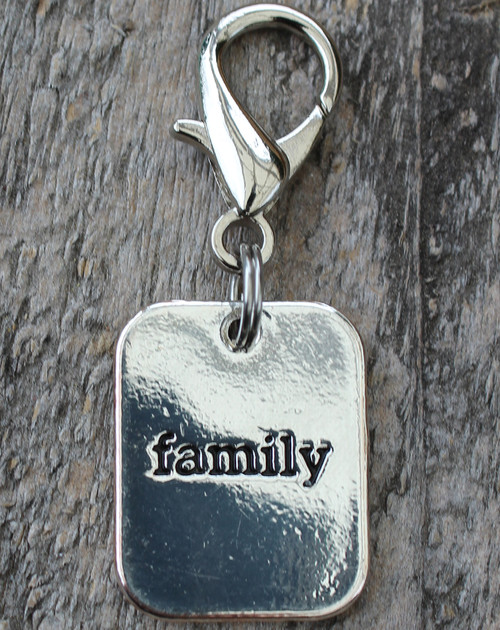 Family Silver Dog Collar Charm - by Diva-Dog.com