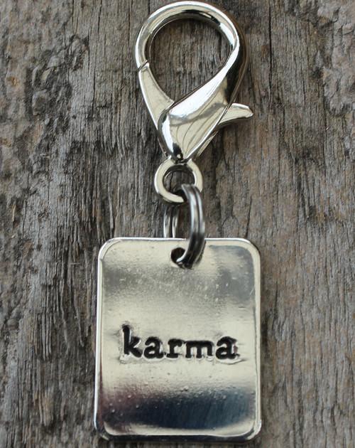 Karma Dog Collar Charm - by Diva-Dog.com