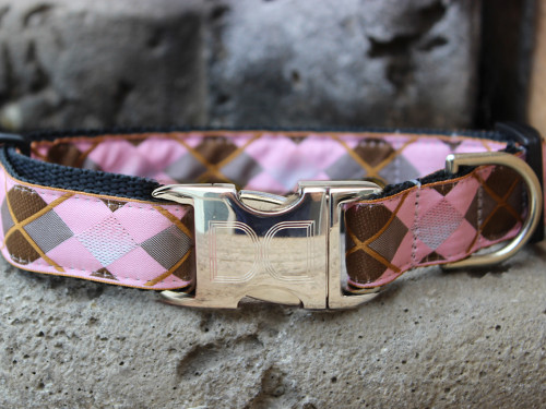 Argyle dog collar by www.diva-dog.com