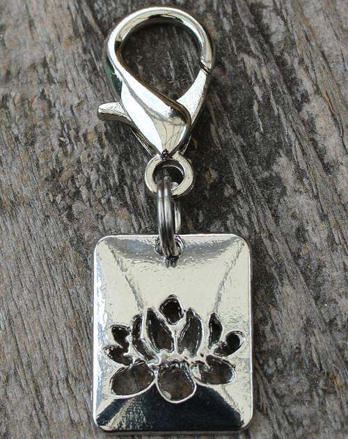 Lotus Dog Collar Charm - by Diva-Dog.com