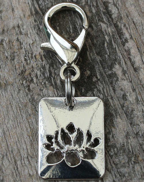 Lotus Dog Collar Charm - by Diva-Dog.com