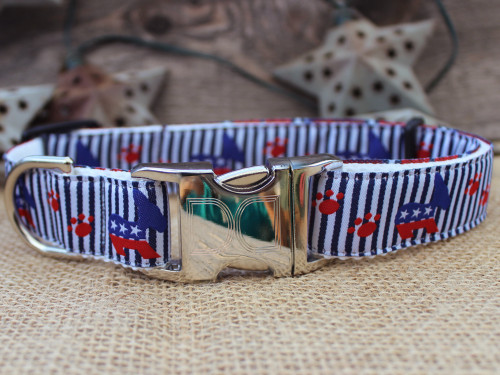Democrat Doggie Dog Collar - by Diva-Dog.com