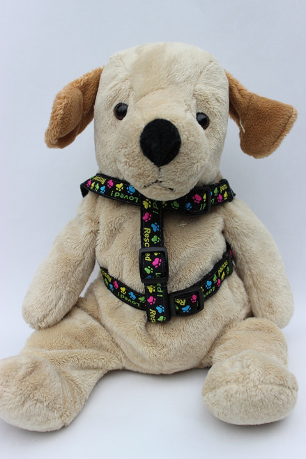 Rescue Me Step-in Dog Harness - by Diva-Dog.com front view