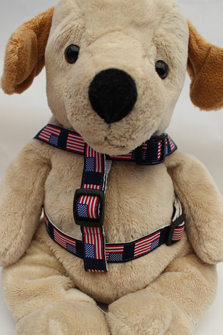 Stars n Stripes Step-In Harness - by Diva-Dog.com  - Front View