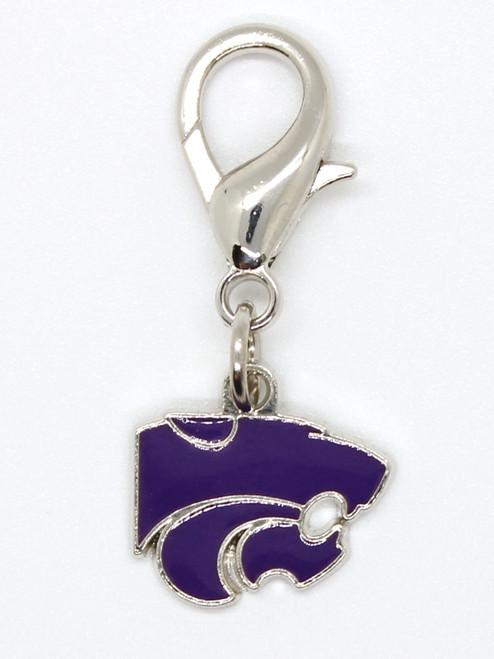 Kansas State Wildcats dog collar charm by diva-dog.com