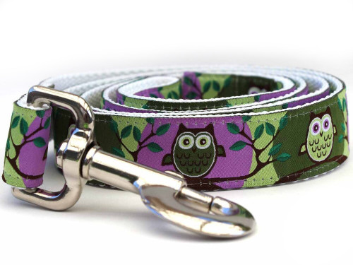 H'Owl Avocado and Grape Dog Leash - by Diva-Dog.com