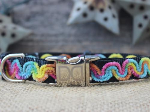 Waves Carnivale Dog Collar - by Diva-Dog.com