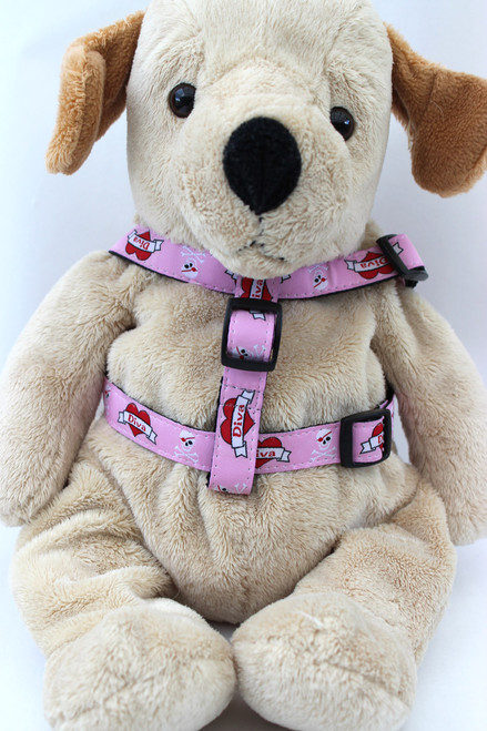 Valentine step in Harness - by Diva-Dog.com  - front view