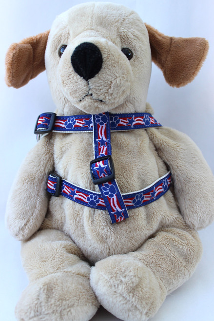 Stars and Paws step in Harness - by Diva-Dog.com  - front view