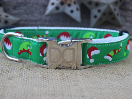 Elf Hats Dog Collar - by Diva-Dog.com