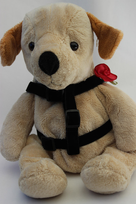 Carnation red step-in Harness - by Diva-Dog.com - front view