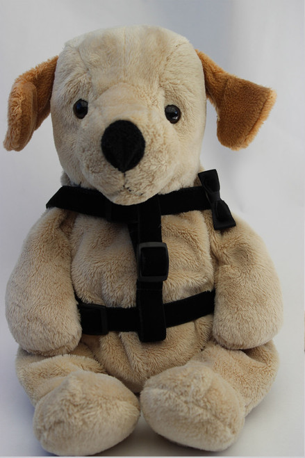 Bowtie Black Step-In Harness - by Diva-Dog.com  - front view