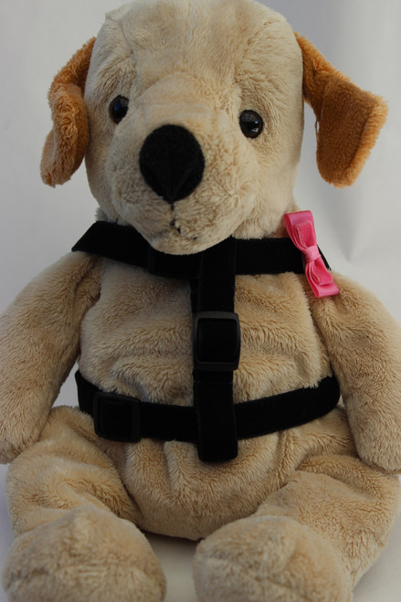 Bowtie Pink Step-In Harness - by Diva-Dog.com  - front view