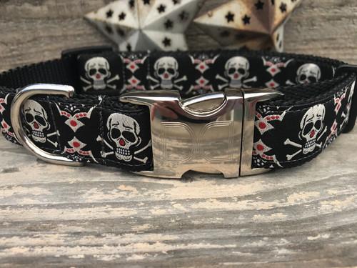 Billy Bones Dog Collar - by Diva-Dog.com