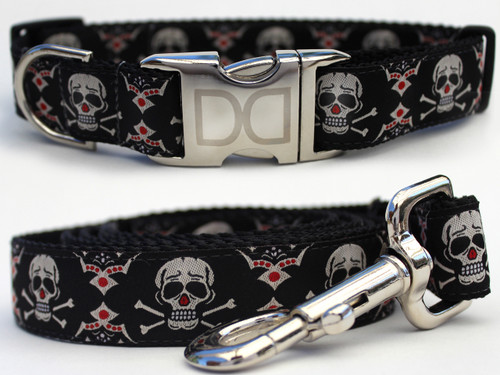 Billy Bones dog Collar and Leash Set - by Diva-Dog.com