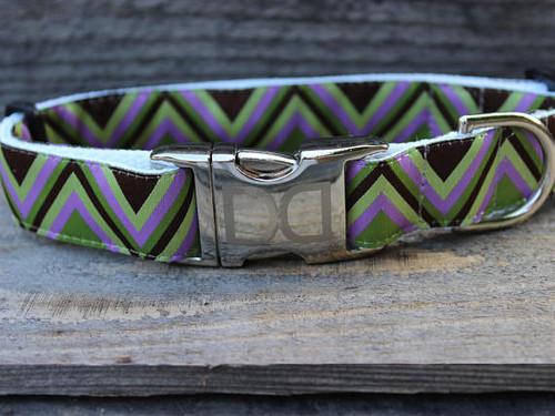 Mod Purple dog Collar - by Diva-Dog.com